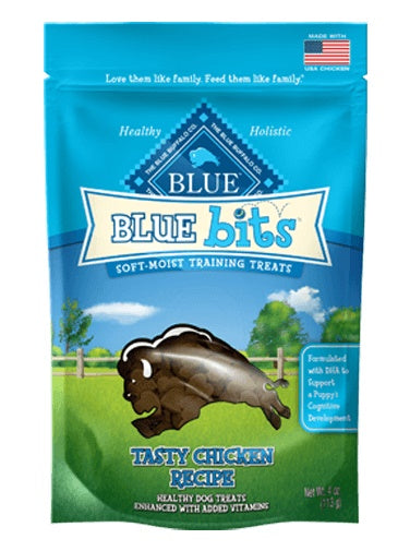 Blue Buffalo Bits Tasty Chicken Soft-Moist Dog Training Treats 4 Oz