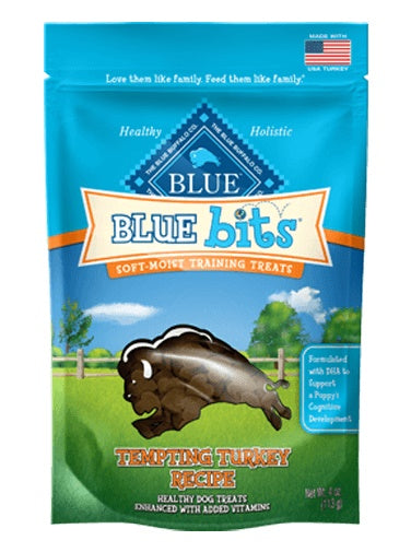 Blue Buffalo Bits Tempting Turkey Soft-Moist Dog Training Treats 4 Oz