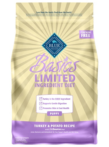 Blue Buffalo Basics Limited Ingredient Diet Turkey & Potato Recipe Puppy Food 24 Lbs