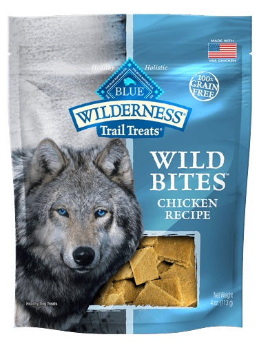 Blue Buffalo Wilderness Trail Treats Chicken Wild Bites Grain Free Natural Dog Treats 4 Oz