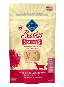 Blue Buffalo Basics Limited Ingredient Diet Salmon & Potato Dog Biscuits 6 Oz