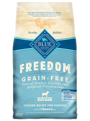 Blue Buffalo Freedom Grain Free Chicken Recipe Puppy Food 24 Lbs