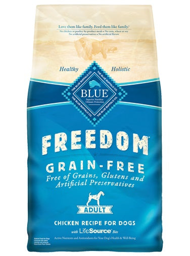 Blue Buffalo Freedom Grain Free Chicken Recipe Adult Dog Food 24 Lbs
