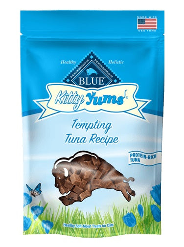 Blue Buffalo Kitty Yums Tempting Tuna Recipe Healthy Soft-Moist Treats 2 Oz