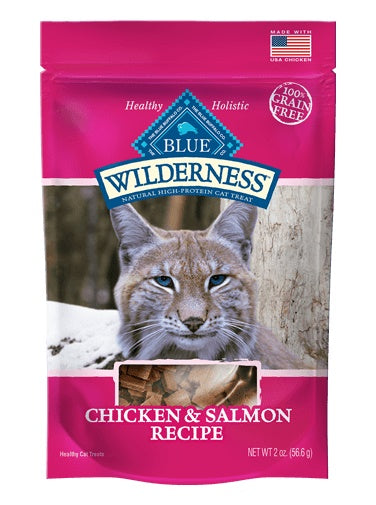 Blue Buffalo Wilderness Grain Free Chicken & Salmon Soft-Moist Cat Treats 2 Oz