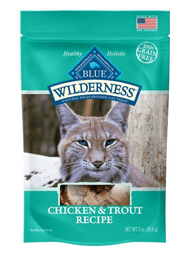 Blue Buffalo Wilderness Grain Free Chicken & Trout Soft-Moist Cat Treats 2 Oz