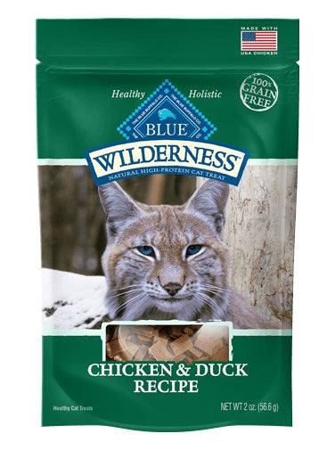 Blue Buffalo Wilderness Grain Free Chicken & Duck Soft-Moist Cat Treats 2 Oz