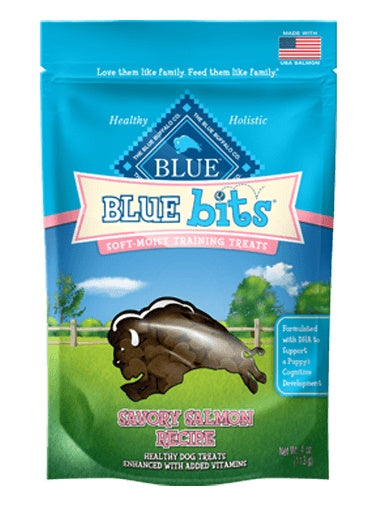 Blue Buffalo Bits Savory Salmon Soft-Moist Dog Training Treats 4 Oz