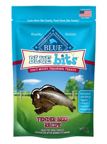 Blue Buffalo Bits Tender Beef Soft-Moist Dog Training Treats 4 Oz