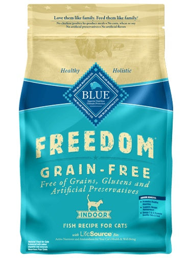 Blue Buffalo Freedom Grain Free Indoor Fish Recipe Adult Cat Food 5 Lbs