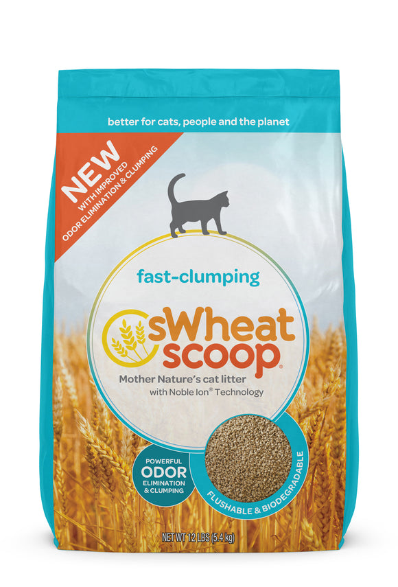 sWheat Scoop Fast-Clumping Mother Nature's Cat Litter 12 Lbs