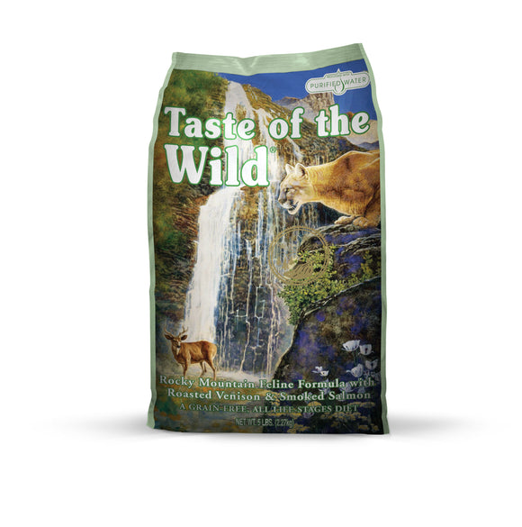 Taste of the Wild Rocky Mountain Feline Recipe with Roasted Venison & Smoked Salmon 5 Lbs