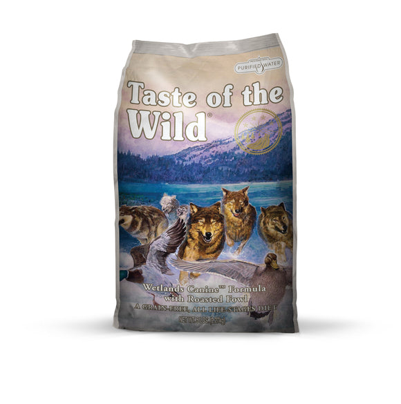Taste of the Wild Wetlands Canine Recipe with Roasted Fowl 5 Lbs