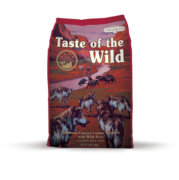 Taste of the Wild Southwest Canyon Canine Recipe with Wild Boar 14 Lbs