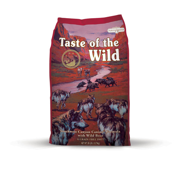 Taste of the Wild Southwest Canyon Canine Recipe with Wild Boar 28 Lbs