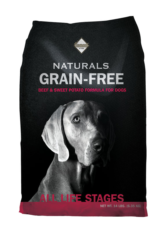 Diamond Naturals Grain-free Pasture-raised Beef & Sweet Potato Formula Dog Food 14 Lbs