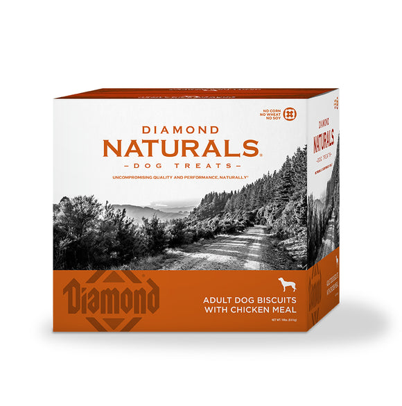 Diamond Naturals Adult Dog Biscuits with Chicken Meal 19 Lbs