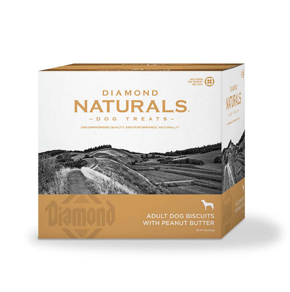 Diamond Naturals Adult Dog Biscuits with Peanut Butter 19 Lbs