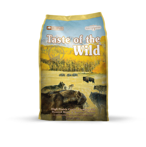 Taste of the Wild High Prairie Canine Recipe for Dog 14 Lbs