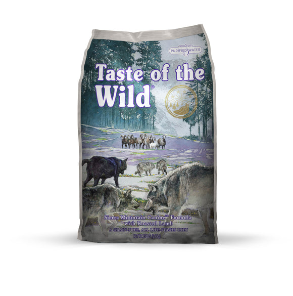 Taste of the Wild Sierra Mountain Canine Recipe for Dog 14 Lbs