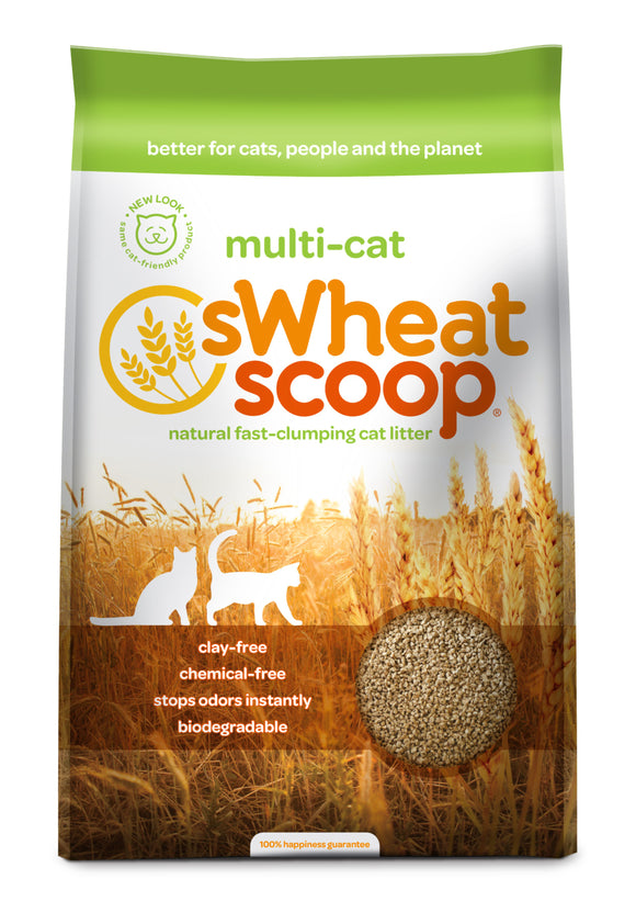 sWheat Scoop Multi-Cat Mother Nature's Cat Litter 25 Lbs