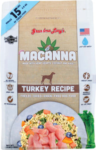 Grandma Lucys Macanna Turkey Freeze Dried Grain Free Dog Food 3 Lbs