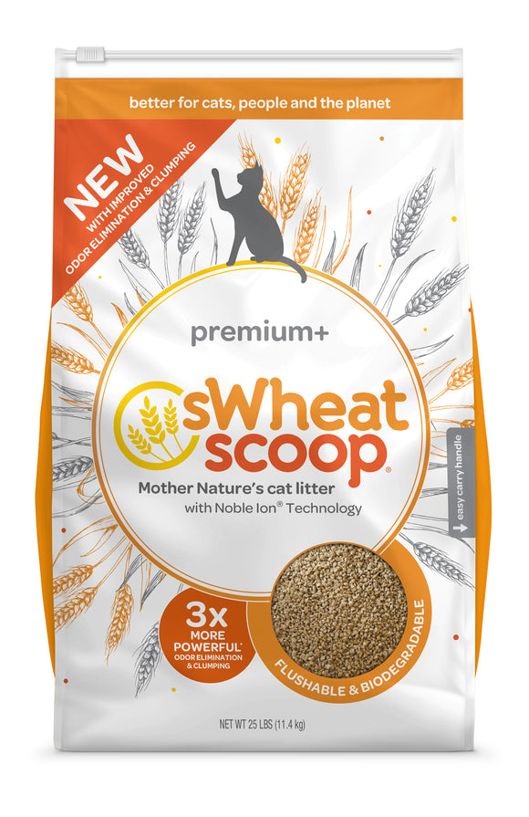 sWheat Scoop Premium+ Mother Nature's Cat Litter 25 Lbs