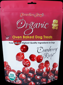 Grandma Lucys Organic Oven Baked Cranberry Recipe Dog Treats 14 Oz
