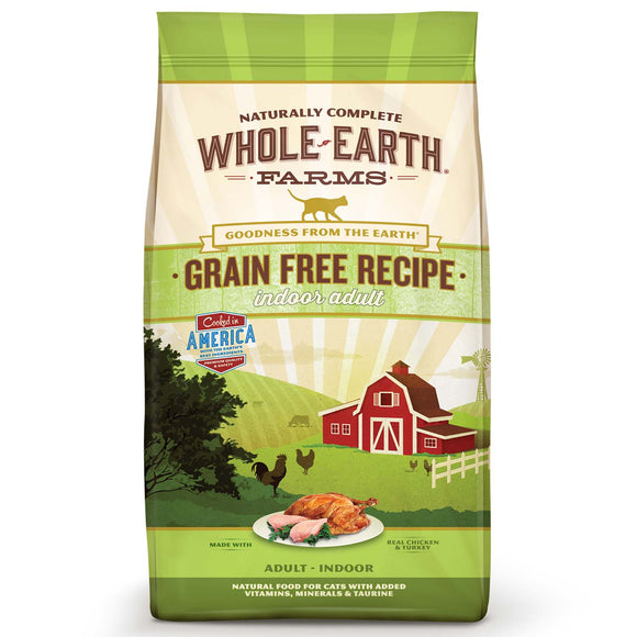 Whole Earth Farms Grain Free Indoor Dry Cat Food 10 Lbs