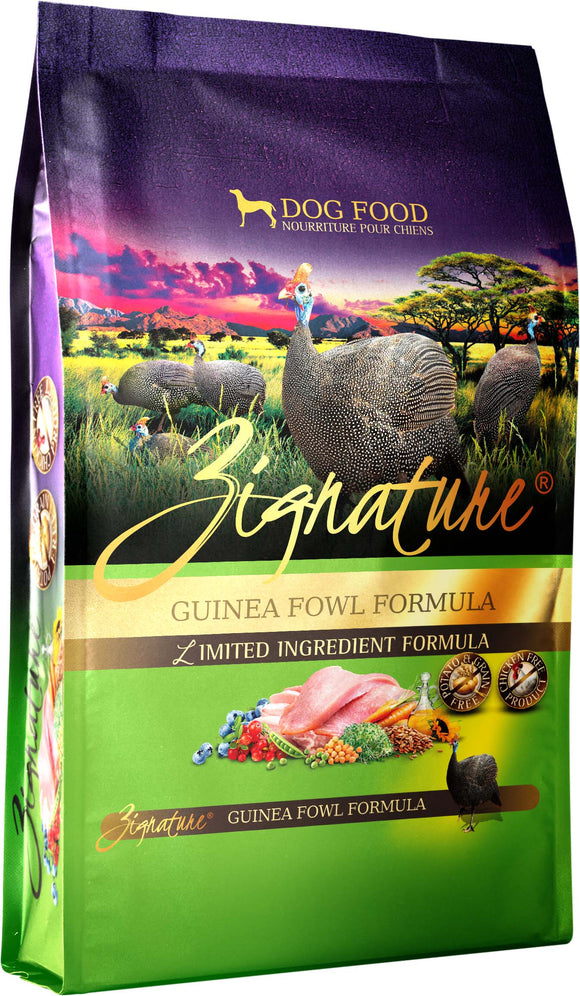 Zignature Limited Ingredient Guinea Fowl Formula Dog Food 4 Lbs