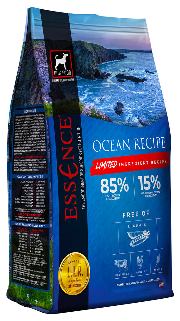 Essence Limited Ingredient Ocean Recipe Dog Dry Food 12.5 Lbs