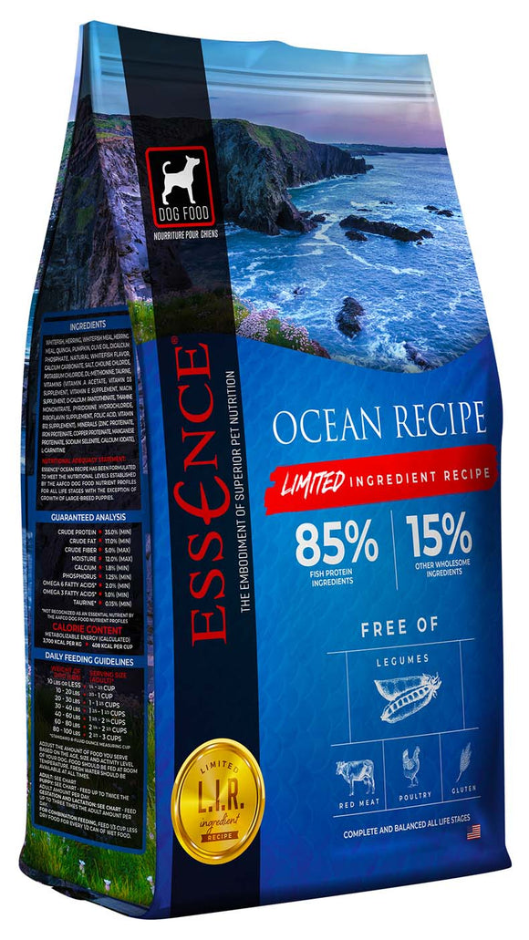 Essence Limited Ingredient Ocean Recipe Dog Dry Food 25 Lbs