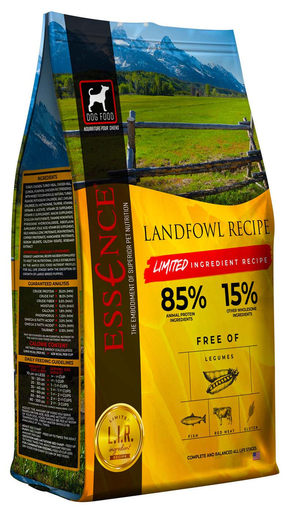 Essence Limited Ingredient Landfowl Recipe Dog Dry Food 25 Lbs