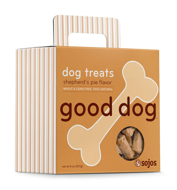 Sojos Good Dog Shepherds Pie Flavor Baked Dog Treats 8 Oz