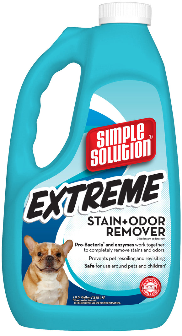 Simple Solution Extreme Formula Pet Stain & Odor Remover for Dog 1 Gal
