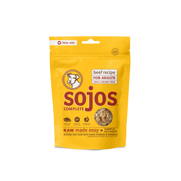 Sojos Complete Grain Free Beef Recipe Dog Food Trial Pack 4 Oz