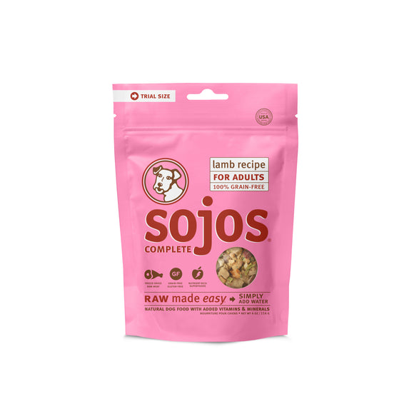 Sojos Complete Grain Free Lamb Recipe Dog Food Trial Pack 4 Oz