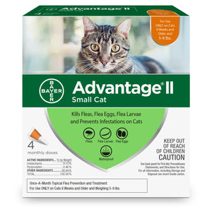 Advantage II Advantage II Flea Treatment for Small Cat 4 Dose