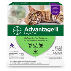 Advantage II Advantage II Flea Treatment for Large Cat 4 Dose