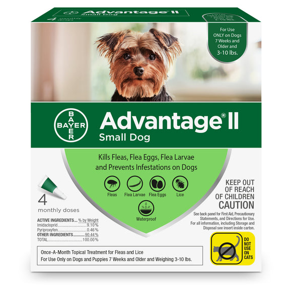 Advantage II Advantage II Flea Treatment for Small Dog 4 Dose - BrightSource Market