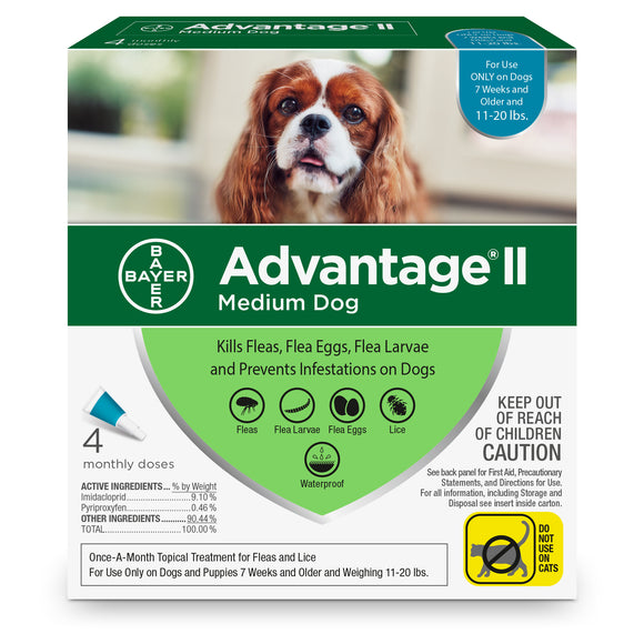 Advantage II Advantage II Flea Treatment for Medium Dog 4 Dose - BrightSource Market