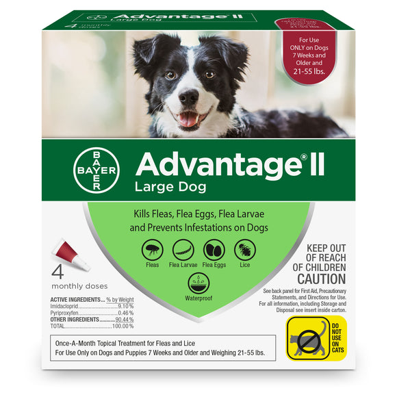 Advantage II Advantage II Flea Treatment for Large Dog 4 Dose - BrightSource Market