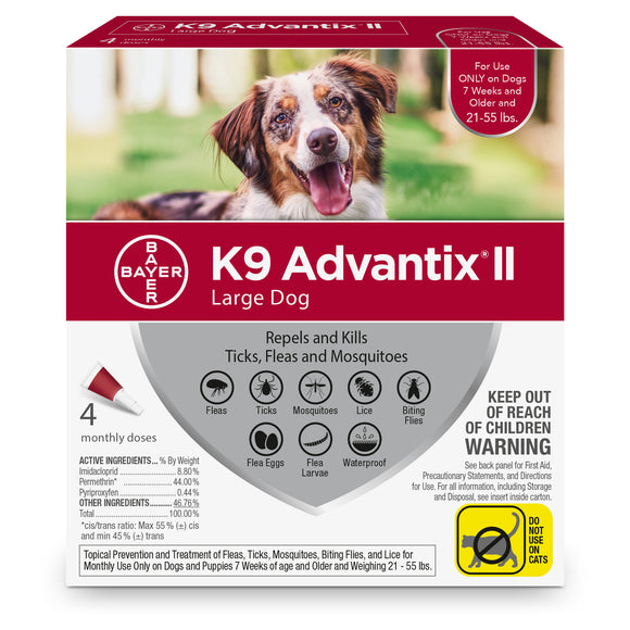 K9 Advantix II K9 Advantix II Fleas & Tick Treatment for Large Dog 4 Dose