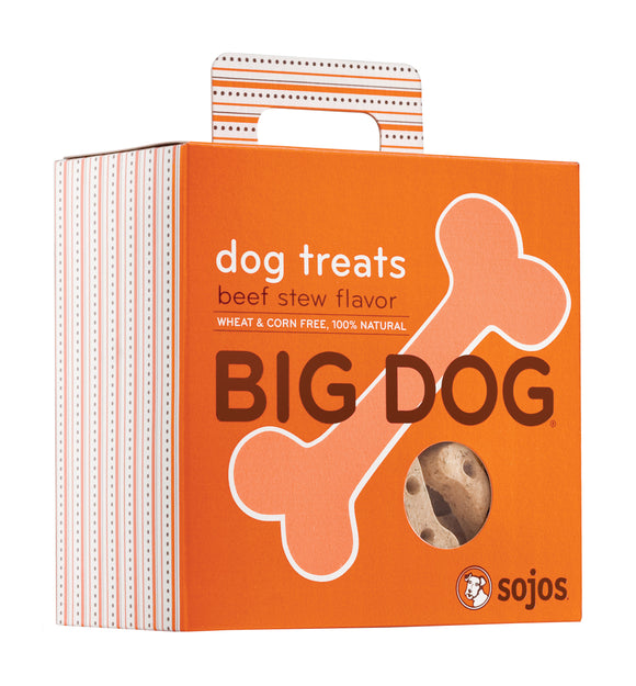 Sojos Big Dog Beef Stew Flavor Baked Dog Treats 12 Oz