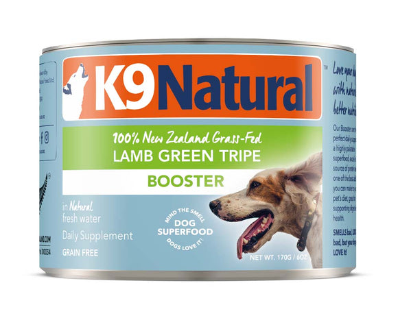 K9 Natural Grain Free Lamb Green Tripe Canned Booster Dog Supplement 6 Oz