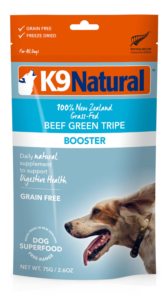 K9 Natural Grain Free Beef Green Tripe Freeze Dried Booster Dog Supplement 2.6 Oz