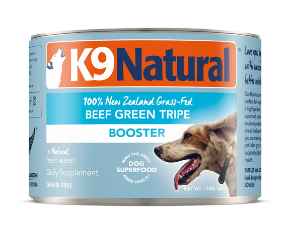 K9 Natural Grain Free Beef Green Tripe Canned Booster Dog Supplement 6 Oz
