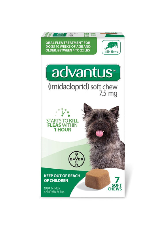 Advantus Advantus Soft Chew 7.5 mg for Small to Medium Dog 7 Count