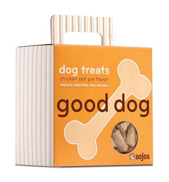 Sojos Good Dog Chicken Pot Pie Flavor Baked Dog Treats 8 Oz