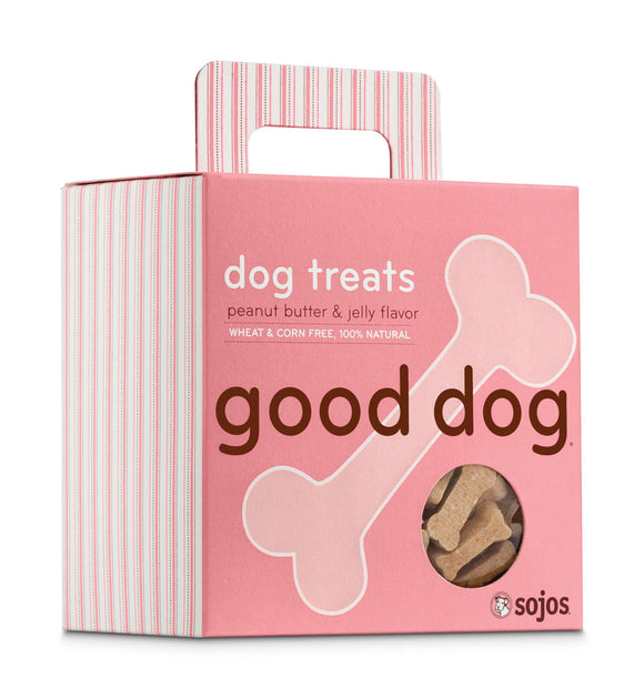 Sojos Good Dog Peanut Butter & Jelly Flavor Baked Dog Treats 8 Oz